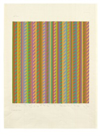 untitled [towards 'broken gaze'] by bridget riley